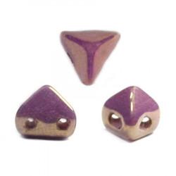 Perles en verre Super-Khéops® par Puca® 6mm Opaque Mix Violet Gold Ceramic Look (x5g)