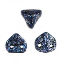 Perles en verre Super-Khéops® par Puca® 6 mm Tweedy Blue (x5g)