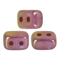 Perles Ios® par Puca® 5,5x2,5 mm Opaque Mix Violet Gold Ceramic Look (x5g)