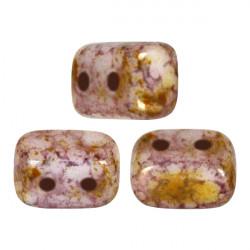 Perles Ios® par Puca® 5,5x2,5 mm Opaque Mix Rose Gold Ceramic Look (x5g)