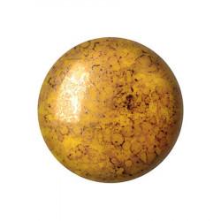 Cabochon Verre 18mm Opaque Jonquil Bronze (X1)