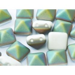 Perle Beadstud 12X12mm Chalk White Vitrail Matted(X4)