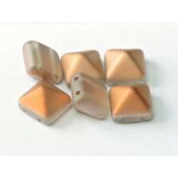 Perle Beadstud 12X12mm Crystal Sunet Matted (X4)