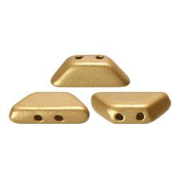 PERLES EN VERRE TINOS® PAR PUCA® 4X10 MM LIGHT GOLD MAT (X5G)