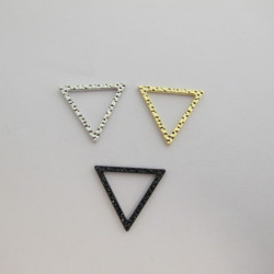 Support Triangle Argent Vieilli 20 mm (x1)