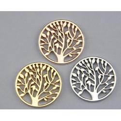 cabochon arbre de vie Gold 33X2mm (X1)