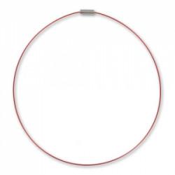 Tour de cou cable Bordeaux 40cm (x1)