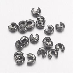Cache perle Gunmétal 3mm (X10)