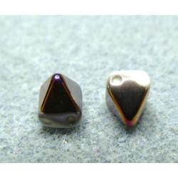 Perles Pyramides 6X6mm Alabaster Sliperit (x100)