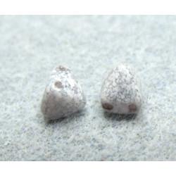 Perles Pyramides 6X6mm Alabaster Teracota Copper (x100)