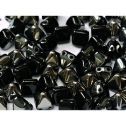 Perles Pyramides 6X6mm Jet Chrome (x100)