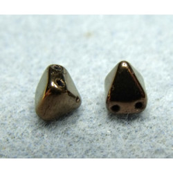 Perles Pyramides 6X6mm Jet Bronze (x100)