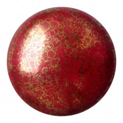 Cabochon verre 25mm Opaque Coral Red Bronze (x1)