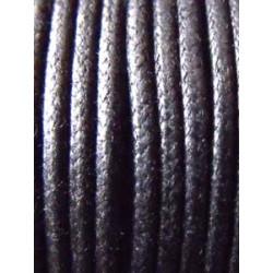 Coton Ciré 3mm Noir (X40m)