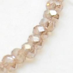 Perles Rondes Aplaties en Cristal de Chine 2.5x2mm Tan iris (x1fil)