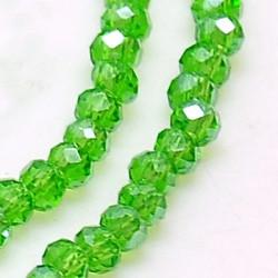 Perles Rondes Aplaties en Cristal de Chine 2.5x2mm Green iris (x1fil)