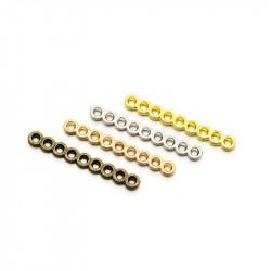 Intercalaire 9 rangs Vieil Argent 30X15X1,5mm (X1)