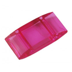Perle Carrier synthétique plate 18x9mm - Fuchsia (x10)