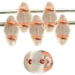 Perles Super Duo 2,5X5mm Crystal - Ligné Topaz (x sachet de 10gr env.)
