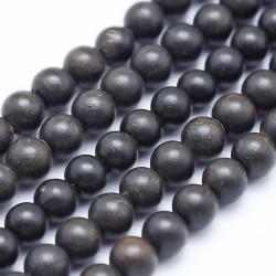 Perles en Bois de Santal 8mm (x10)