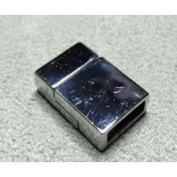 Fermoir Magnétique Rectangle Vieil Argent 18X8X6mm (X1)