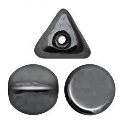 Perles Ilos® par Puca® 5x7mm Jet Hematite  (x5gr)