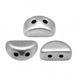 Perles Kos® par Puca® 3x6mm Argentées Silver (x5gr)