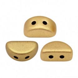 Perles Kos® par Puca® 3x6mm Light Gold Mat (x5gr)