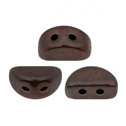 Perles Kos® par Puca® 3x6mm Dark Bronze Mat (x5gr)