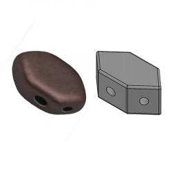 Perles Paros® par Puca® 4x7mm Dark Bronze Mat (x5g)