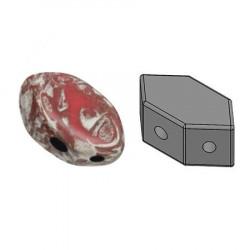 Perles Paros® par Puca® 4x7mm Opaque Light Coral Ladybug (x5g)