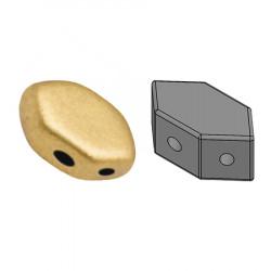 Perles Paros® par Puca® 4x7mm Light Gold Mat (x5g)
