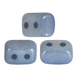 Perles Ios® par Puca® 5,5x2,5 mm Opaque Blue Ceramic Look (x5g)