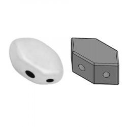 Perles Paros® par Puca® 4x7mm Opaque White Ceramic Look (x5g)