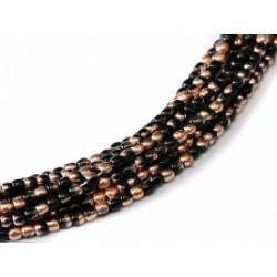 Perles Bohème 2 mm Jet Capri gold (X1200 perles)