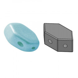 Perles Paros® par Puca® 4x7mm Pastel Mat Aqua (x5g)