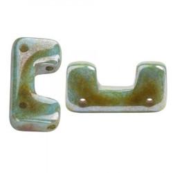 Perles Télos® par Puca® Opaque Mix Blue Green Ceramic Look (X5gr)