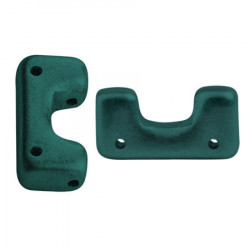 Perles Télos® par Puca® Metallic Mat Green Turquoise (X5gr)