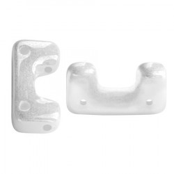 Perles Télos® par Puca® Opaque White Ceramic Look (X5gr)