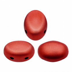 Perles Samos® par Puca® 5x7mm Red Metallic Mat (x5gr)