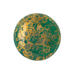 Cabochon Verre 18mm Emerald Bronze (X1)
