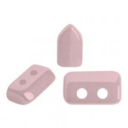 Perles Piros ® par Puca® Opaque Light Rose Ceramic Look (X5gr)