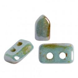 Perles Piros ® par Puca® Opaque Mix Blue Green Ceramic Look (X5gr)