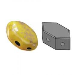 Perles Paros® par Puca® 4x7mm Opaque Jonquil Splash (x5g)
