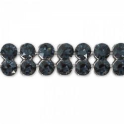 Crystal Mesh Swarovski 40001 2 Cabochons Graphite (X 1)