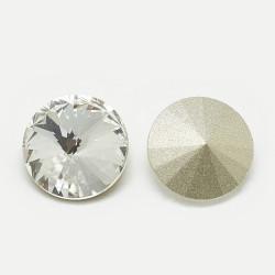 Cabochon rond en verre 14mm Crystal (X1)