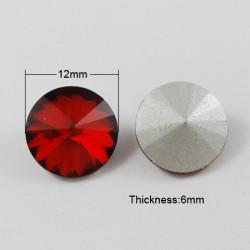 Cabochon rond en verre 12mm Siam (1)