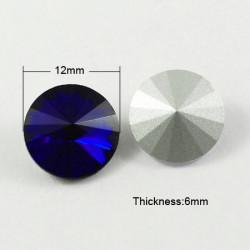 Cabochon rond en verre 12mm Dark Blue (1)