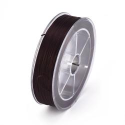 Bobine 10m fil élastique plat 0.8mm Marron (X1)