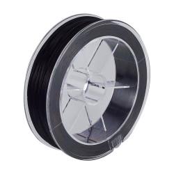 Bobine 10m fil élastique plat 0.8mm Noir (X1)